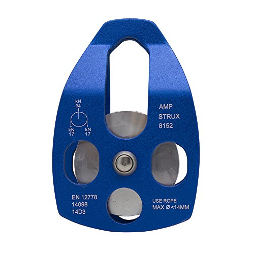 Fusion Climb Strux Aluminum Rescue Side Swing Pulley Blue 34KN