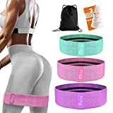 Resistance Exercise Bands for Legs and Butt | Workout Bands Booty Bands Glute Bands Loop | Non Slip Wide Elastic Stretch Circle Hip Bands for Sports Fitness Training Bands for Women