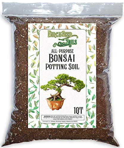 Generic Bonsai Soil All Purpose Premium Fast Draining Organic Potting Mix, 1 Quart Bag Size Ideal for Small Plants, Seed Starting, and as Soil Amendment - for use with All Varieties of Bonsai Trees