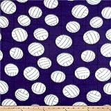 Polar Fleece Volleyball Purple, Fabric by the Yard