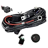 Eyourlife Wiring Harness, 12V 40A Off Road LED LIGHT Bar On Off Power Switch Relay Wiring Harness kit (DT Connector 2 Leads - Power Relay Blade Fuse)