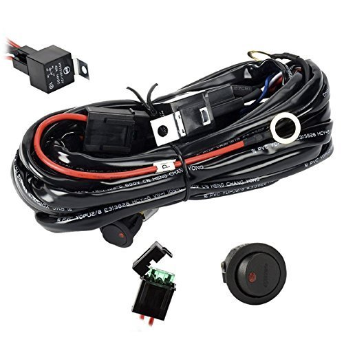 relay kit amazon comeyourlife wiring harness, heavy duty wiring harness kit for led light bar 300w 12v 40a