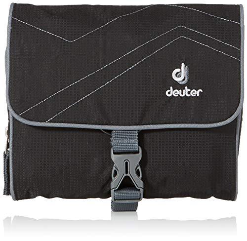 Deuter Kulturtasche Wash Bag I Waschbeutel, Black-Titan, 16 x 19 x 3 cm