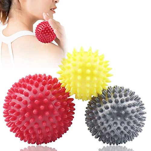 Ealicere 3 Stück Igelbälle Massageball Set für Rücken, Beine, Füße & Hände Muskelmassage