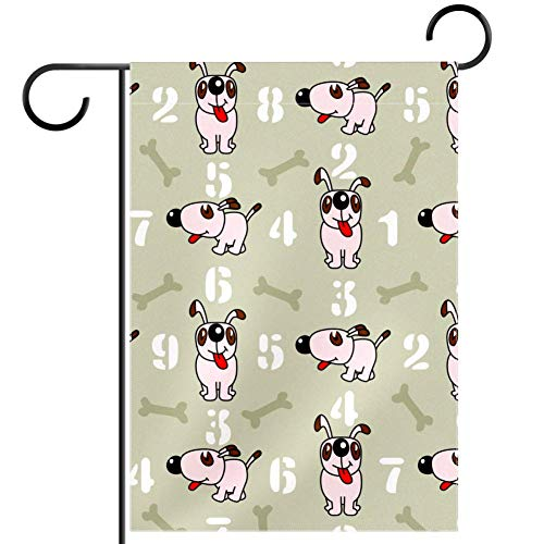 ART VVIES Outdoor Decoration Without Stand Yard 28x40 inch Garden Flag Great Double Sided Cute Animal Pattern Puppy Dog