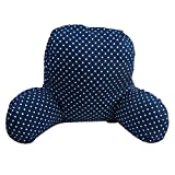BEE Reading Pillow,Bed Rest Pillow,Home Office Sofa,Chair Lumbar Pillow,Lumbar Cushion,Reading Cushion, Standar Pillow,Back Rest Lumbar Support Cushion Pillow for Bed, Chair,Sofa (Dark blue)