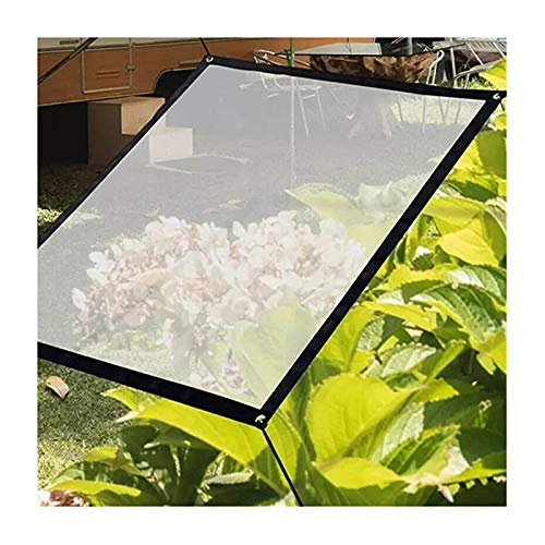 SHIJINHAO Large Transparent Tarp Clear Cover Waterproof Tarpaulin With Grommets Thick UV Resistant Tear Proof Tarpaulin For Outdoor Furniture, 19 Sizes (Color : Clear, Size : 4x6m)
