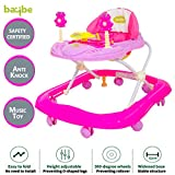 BAYBEE Smart Witty Plastic Round Baby Walker with Adjustable Height and Musical Toy
