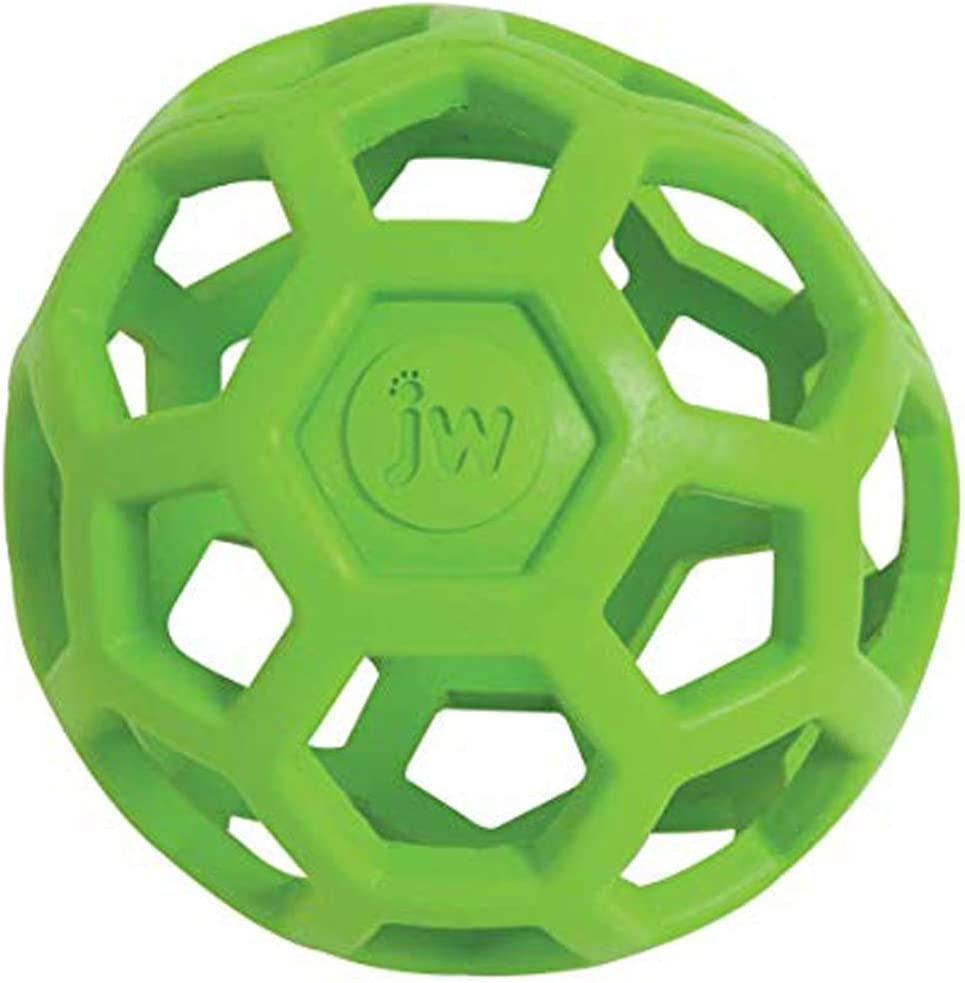 Pet Supplies : Pet Toy Balls : JW Pet Hol-ee Roller Original Do It All Dog Toy Puzzle Ball, Natural Rubber, Assorted Colors, Medium :