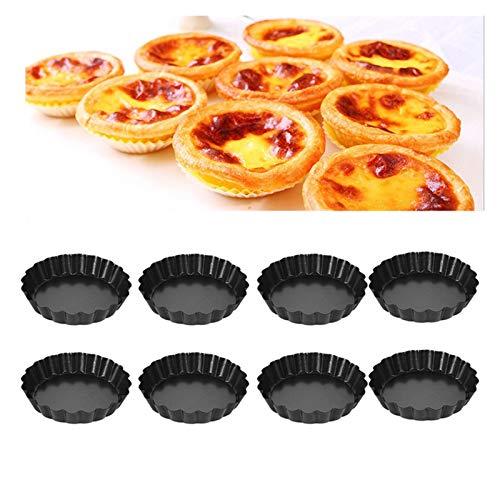 JSJJARF Fuente de Horno 2/4/8 Piezas Antiadherente Pie Pizza Pan moldes de la Torta Molde Redondo Desmontable Inferior 4 Pulgadas Mini sartenes Establecido for Hornear (Color : 2 pcs)