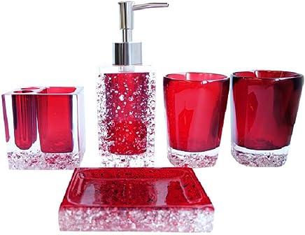 Amazon Ca Red Bathroom Accessory Sets Bathroom Accessories