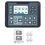 Módulo Controlador de Generador, Controlador de Grupo Electrógeno, Conjunto Generador Electrónico Suministros Industriales DC82D MKII AC80-360V, Tecnología de Microprocesador de 32 Bits