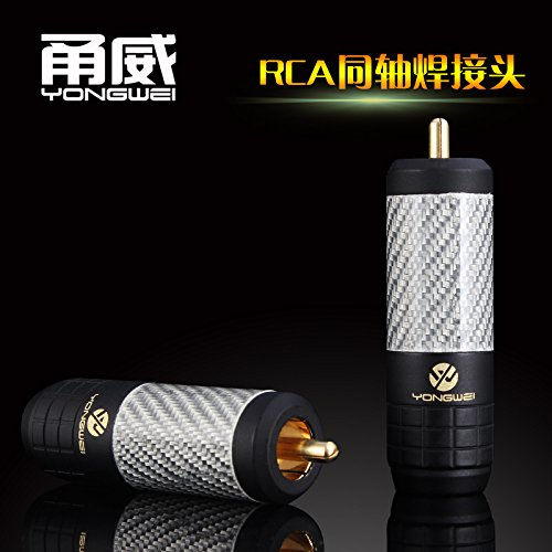 Professionele Perfect Match Yong Wei RCA lotus koorts coaxiale audio kabel plug COAXAL subwoofer hoorn hoofd SPDIF