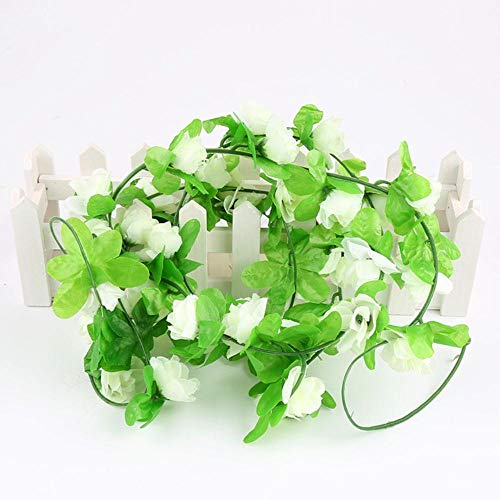 230cm Kunstbloem Wijnstok Orchideeën Bloemensnoer Handgemaakt Opknoping Slinger Bruiloft Huis Muur DIY Decoratie Benodigdheden, 02, Frankrijk