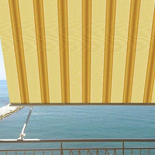 BIACCHI ETTORE SRL Tenda da Sole a Caduta 3x2,5 mt Beige/Bordeaux, Beige/Verde, Beige/ocra, Beige Finestra o Balcone Milos (Beige/Ocra)