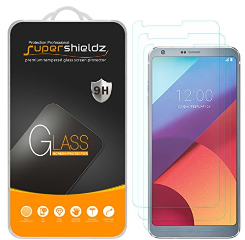 (3 Pack) Supershieldz for LG G6 Tempered Glass Screen Protector Anti Scratch, Bubble Free