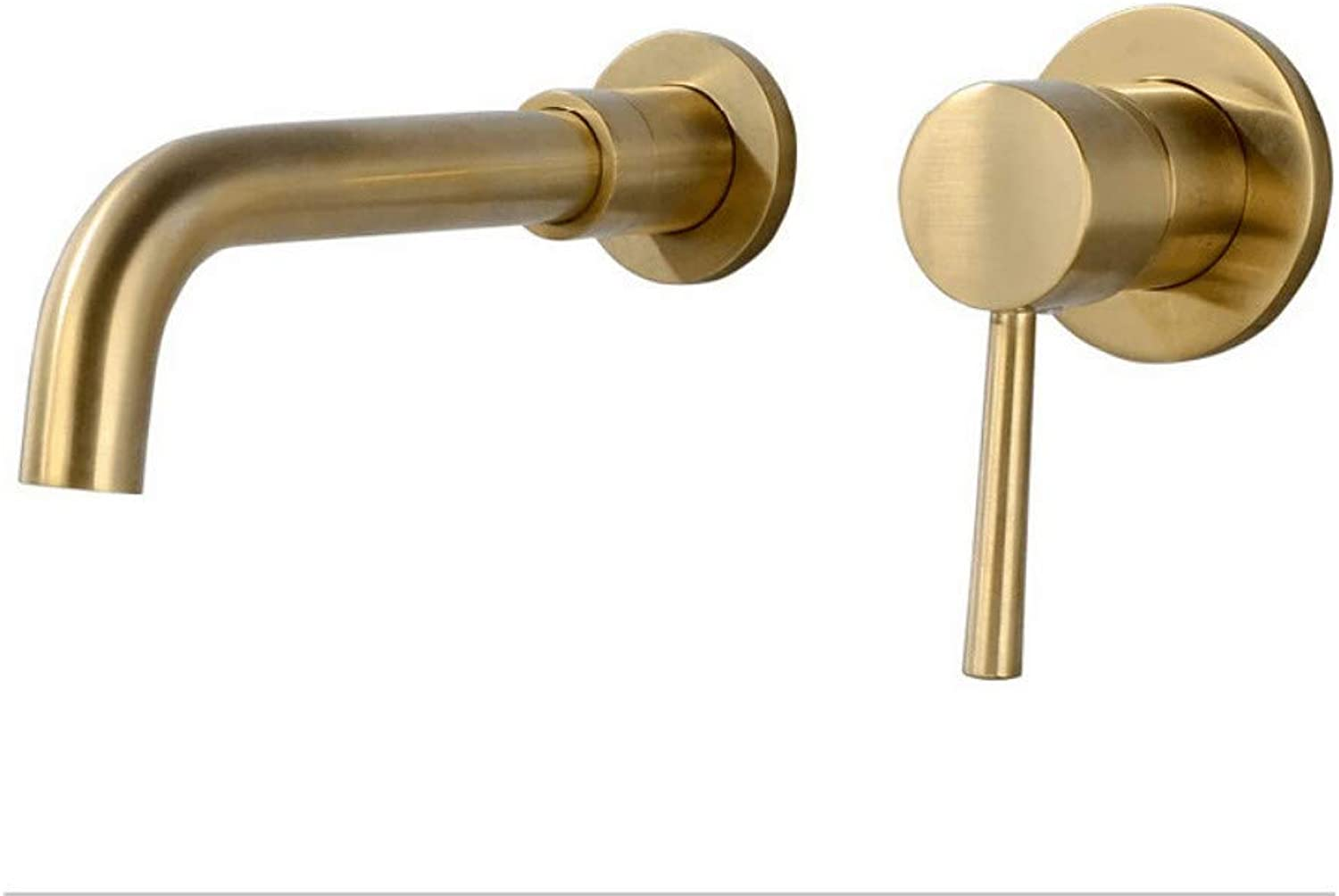 Taps Faucet Concealed Brushed gold color Hot and Cold Water Basin Faucet Split Separation Faucet with redating Nozzle