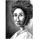 WTHKL Rosa Luxemburg Schwarz-Weiß-Leinwand Gemälde