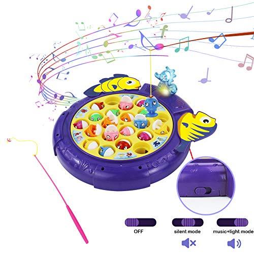 Pesca Pesciolini Gioco Pesca Pesci 2 in 1 Giochi da Tavolo per Bambino con Musicali Giochi Societa Educativi Regalo per Bambini 3 4 5 Anni