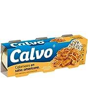 Calvo Calamares En Salsa Americana - Paquete de 3 x 80 gr - Total: 240 gr