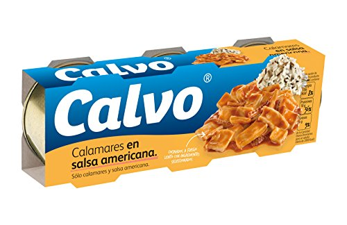 Calvo Calamares En Salsa Americana - Paquete de 3 x