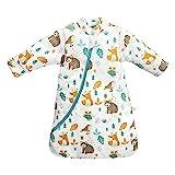 Saco de dormir para bebé de invierno para niños, 3,5 tog, diferentes tamaños, desde el nacimiento hasta los 4 años (altura 90-105 cm / 24-48 meses, mundo animal)