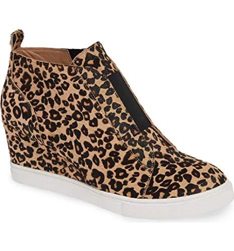 Zapatillas Deportivas de Mujer Sneakers Cuña Botines Casual Plataforma Piel 4.5cm Tacon Medio Invierno Ancho Ankle Boots Beige Azul Rosa 34-43 LP40