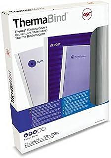 GBC 45442 Pack de 25 Couvertures de Reliure Thermique 6 mm Blanc