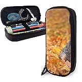 Bleu Heeler Automne PU En Cuir Pochette Sacs De Rangement Portable Étudiant Crayon Papeterie Sac Multi-Fonction Sac