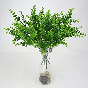 1pc Plant Flower with Leaf Plastic Green Grass Tree Fake Foliage Bush for Home Wedding Hotel Party Decor,1
