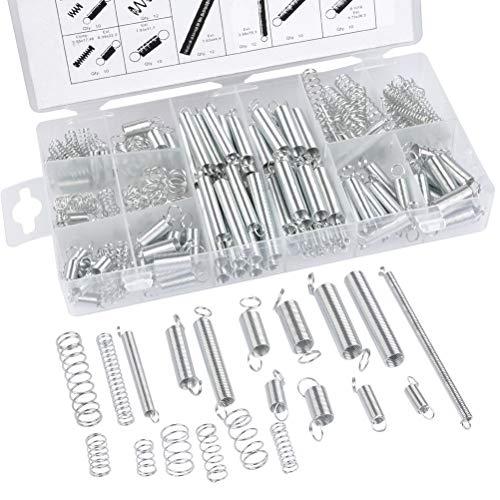 Spiralfeder Stahlfeder 200 Stück Druckfeder Stahlfeder Verzinkte Feder Set Druckfeder Sortiment Verzinkte Feder Set