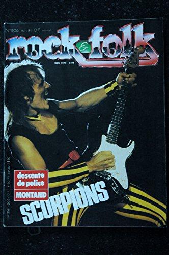 ROCK & FOLK 206 MONTAND SCORPIONS John Cougar Mellencamp Tamla Motown Frank Zappa