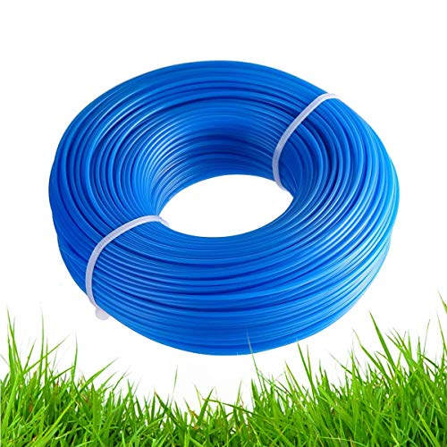 AOBETAK Strimmer Line, 1.6mm x 100M String Trimmer Line Grass Weed Trimmer Brush Cutter, Nylon Round Rope Cut Weed Strimmer Cord String Wire for Garden Grass Trimmers Electric (Blue)