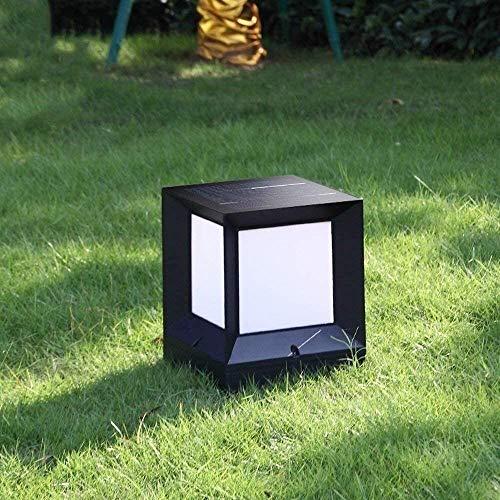 CNMGM IP55 wasserdichte LED Solarsäulenscheinwerfer, Aluminiumgartenlandschaftsrasenleuchten, Außenlichter, Tischbeleuchtung Säulenscheinwerfer, Villa Türpfahl Lichter,M