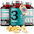Omega 3 Triple Strength Fish Oil - 2000mg, 660 EPA 440 DHA per serving - 180 Premium Softgels by Iron Ore Health
