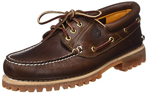 Timberland Herren Authentics 3 Eye Classic Bootsschuhe, Braun (Brown Pull Up), 44 EU