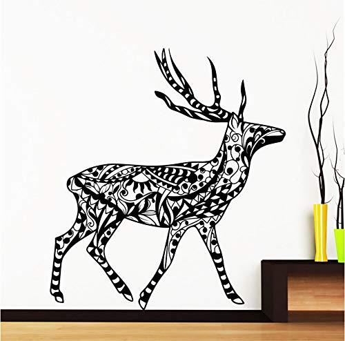 Dalxsh Walking Doe Art Wall Murals Modello Tribale Wall Stickers Home Decor Speciale Fai Da Te Soggiorno Decorazione Della Casa Della Casa Decalcomania Del Vinile 51X56 Cm