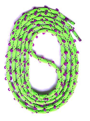 SNORS - Schnürsenkel rund - RUNDSENKEL Neongrün/Purple 130cm, ca. 3mm, eingewebte Öhrchen