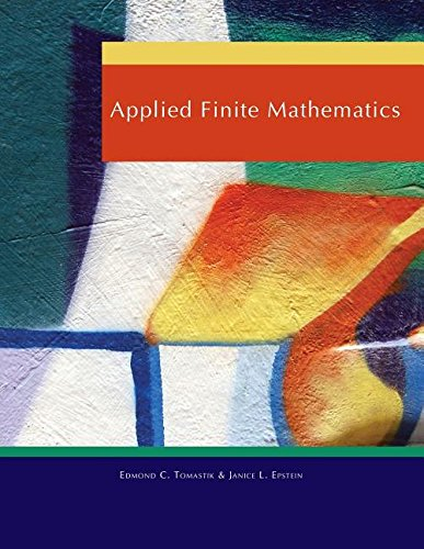 Compare Textbook Prices for Applied Finite Mathematics  ISBN 9780495839606 by Edmond C. Tomastik,Janice L. Epstein