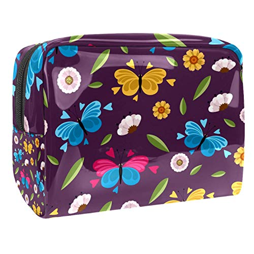Bolsa de maquillaje portátil con cremallera, bolsa de aseo de viaje para mujer, práctica bolsa de...