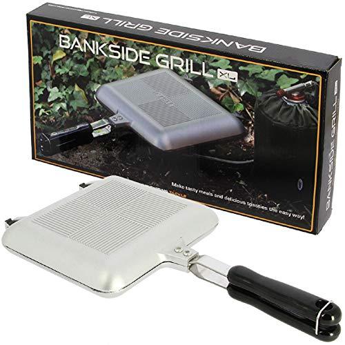G8DS XL Toastie Maker Outdoorpfanne Sandwichmaker in Chrome oder in schwarz Gaskocher