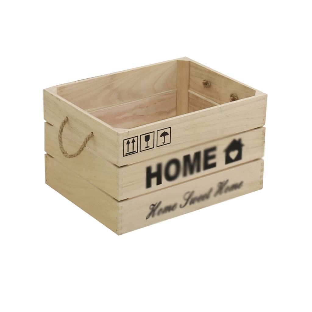 Nai-storage Sólido Madera LP Caja de Almacenamiento, Cafetería Club de Cine de Gran Capacidad de Almacenamiento en Rack de CD - Ropa for niños de Juguete Caja de Almacenamiento de la Vendimia: