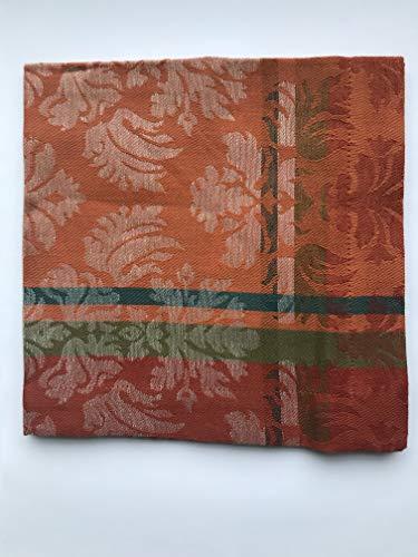 Scantex Serviette Pucci 45 x 45 cm (Ginger-CountryGreen)