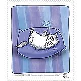 Brillenputztuch - Katze - 'Catzz - Zufrieden' 15x18cm