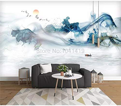 Papel pintado fotográfico allpaper tinta china paisaje foto murales sala de estar estudio fondo pared decoración impermeable 3D pegatinas-300210cm
