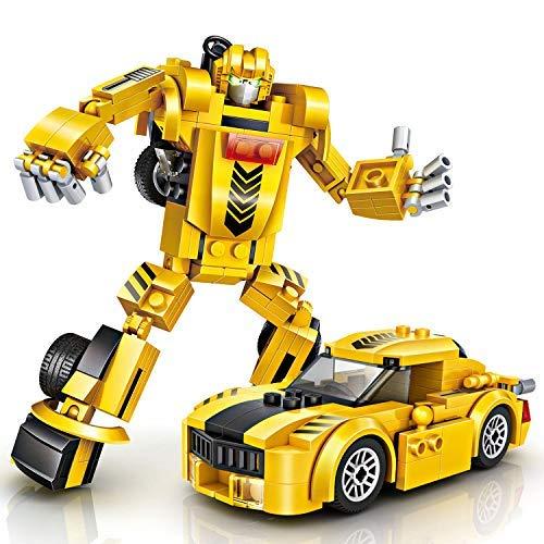 Construcción Robótica, joylink Robot Stem Juguetes de Construcción Educativo Bloques Aprendizaje Kit Diversión Creativa Mejor Regalo de Juguete para Niños de 6 Años o Más Niños y Niñas(amarillo)
