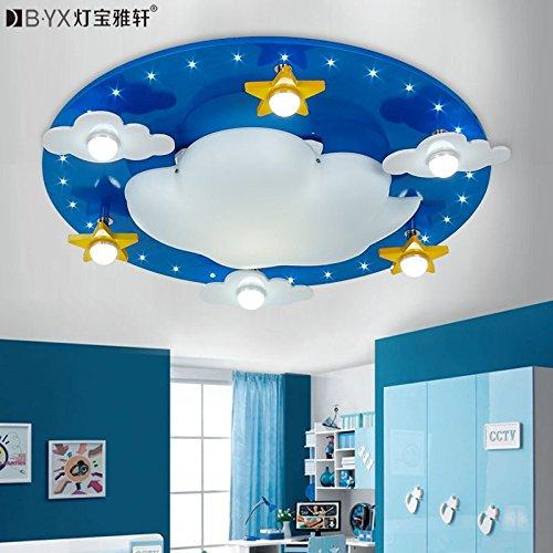 JJ LED modernes ceiling lamp nuages children's Eclairage de la salle pour les garçons et les filles à LED lampe de plafond enfant chambres lumière lampes cartoon 550*550*120 mm, blanc chaud créatif, 220V-240V