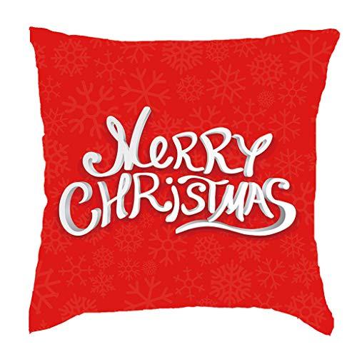 Cuteelf Weihnachtsdekoration Kissenbezug Frohe Weihnachten Kurze Plüsch Kissenbezug Sofakissen Set Hauptdekoration 18x18 Zoll Elch Baumwolle Kissenbezug Weihnachtsbaum Dekoration