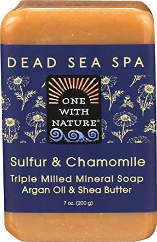 One With Nature – Sulfur & Chamomile Triple Milled Mineral Soap Sulfur & Chamomile – 7 oz.