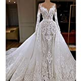QING XIN-1225 Wedding Dress,Prom Dresses Vestido de Novia Vestido de Novia de Manga Larga...